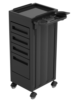 TROLLEY 216 CLOSED BLACK RTP LARGE DRAWER IS